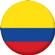 Colombia Country Flag 25mm Flat Back